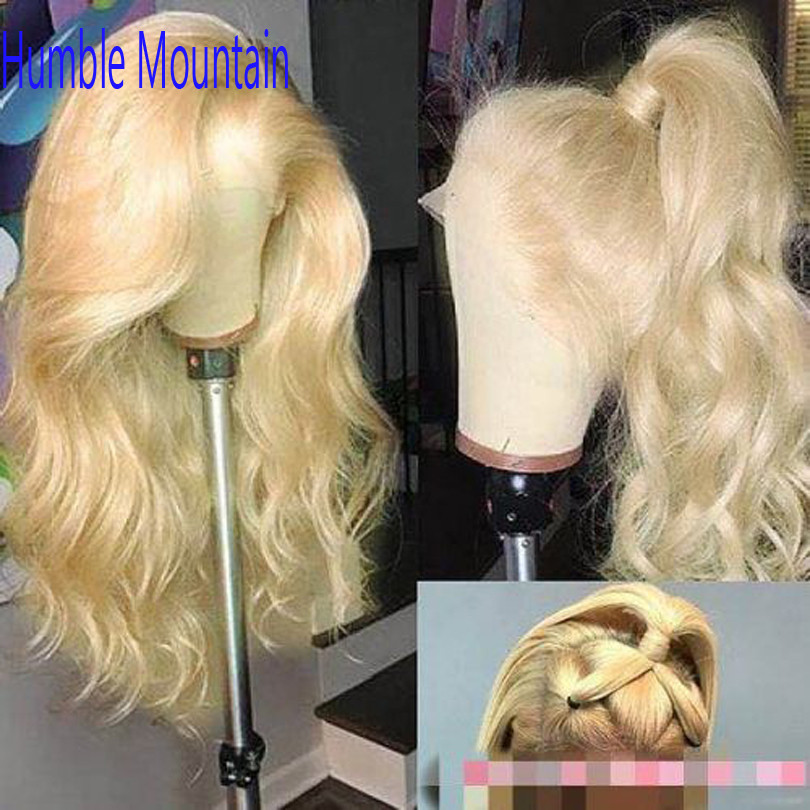 613 Honey Blonde Full Lace Human Hair Wig Colored Remy Brazilian Body Wave Glueless Full Lace Wigs for Women Any Part