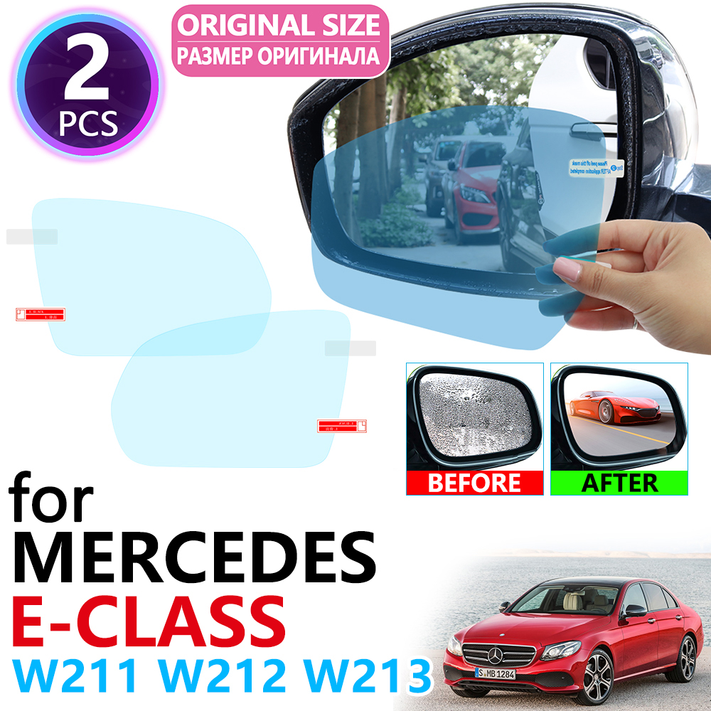 for Mercedes Benz E-Class W211 W212 W213 E-Klasse E200 E250 E300 <font><b>E220d</b></font> AMG Full Cover Rearview Mirror Anti Fog Film Accessories image