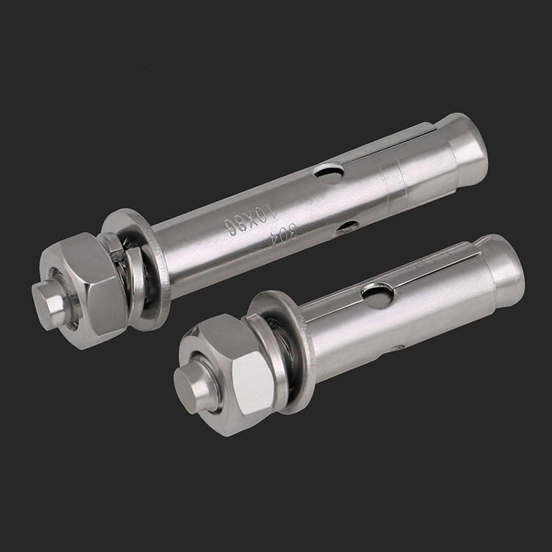 Expansion Screw 304 Stainless Steel Expansion Screw//Lengthened Expansion Screw//Pull and Explosion Hook Screw//Bolt M12-M20 2Pcs Fixed Color : 120mm, Size : M12