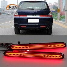 2Pcs For Honda Odyssey 2007 Led Rear Bumper Reflector Light Brake Warning Lamp Fog Driving  Light