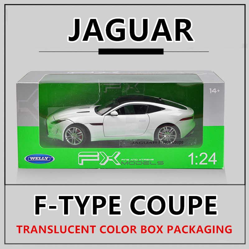 WELLY 1:24 جاكوار F-نوع سيارة سبيكة سيارة نموذج محاكاة سيارة الديكور جمع هدية لعبة يموت الصب نموذج الصبي