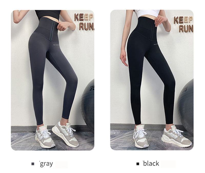 2020 Fitness Pants Women's Corset Hip Lift Postpartum Shaping Yoga High Waist Tights Push Up Running Women Gym Fitness Leggings