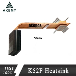 Akemy oryginalny dla For Asus laptopa radiator wentylator chłodnicy cpu K52 K52F A52F X52F P52F CPU radiator