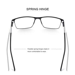 Image 3 - MERRYS Дизайнерские мужские очки из титанового сплава , оправа в деловом стиле , Мужские квадратные ультралегкие очки для близорукости, очки по рецепту S2170
