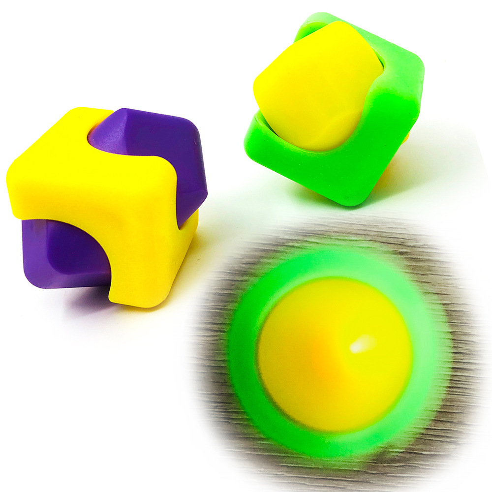 Party Favors Children Education Square Gyro Fidget Toys Cube Decompression Cubes Kids Gifts Hand Spinner Sensory Toys Autism