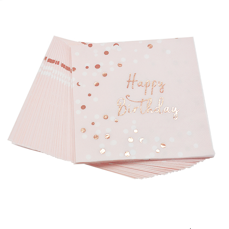Happy Birthday Napkins Disposable Paper Cup Plate For Children Home Party Decoration FP8