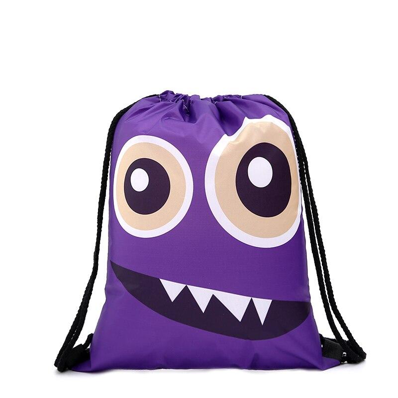 Drawstring Backpack Fashion Women 3D Printing Travel Softback Men Casual Bags Unisex Women's Shoulder Drawstring Sport Funny Bag