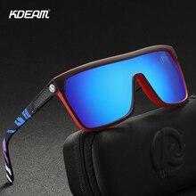 KDEAM One-piece Shape Men Sunglasses Polarized Elastic Paint Surface Sun Glasses Women Suitable Long-lasting Oversize Goggles