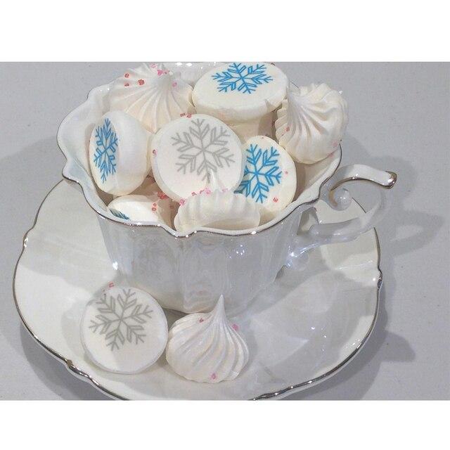 Mix Sneeuwvlok Vorm Patroon Suiker Stempel Transfer Papier Vrolijk Kerstmis Nieuwjaar Decoratie chocolade decoratie sheet cake gereedschap