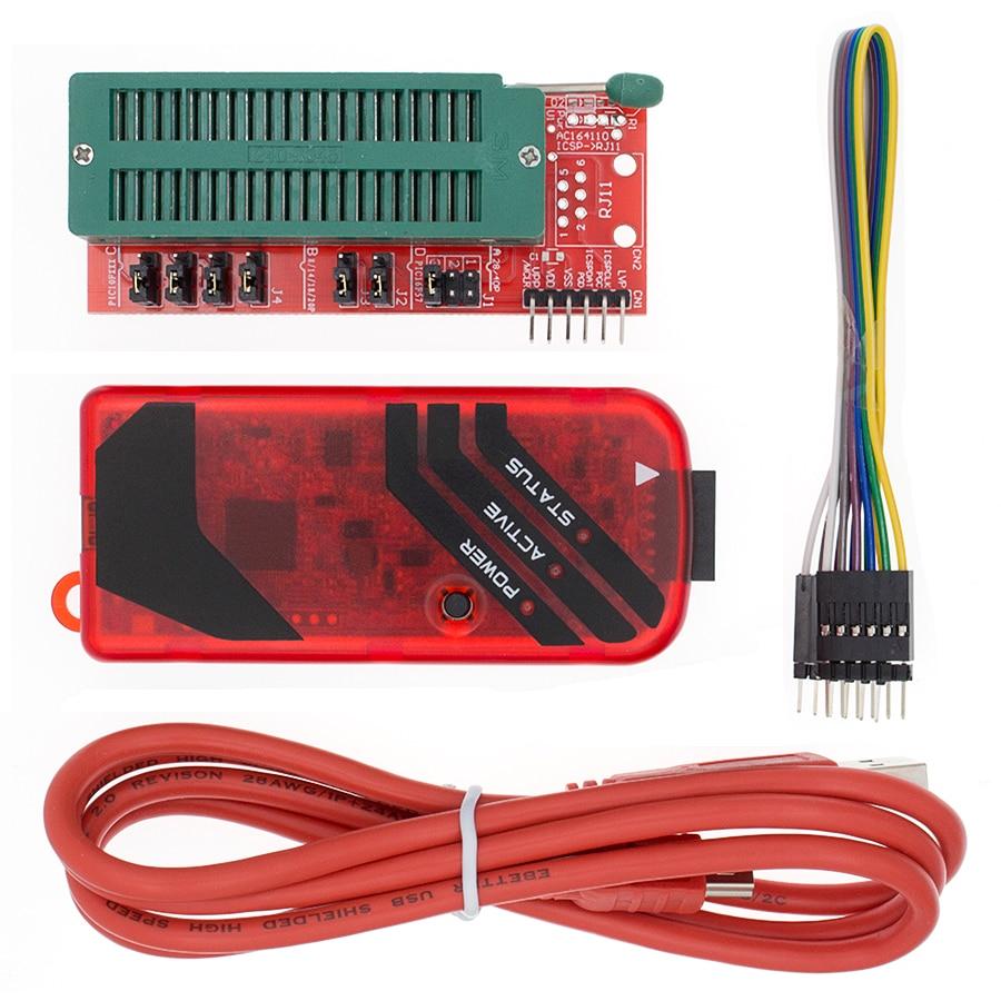 Программатор PICKIT3 PIC KIT3 PICKIT 3, автономное Программирование микроконтроллера PIC, чип-Монополия + адаптер PIC