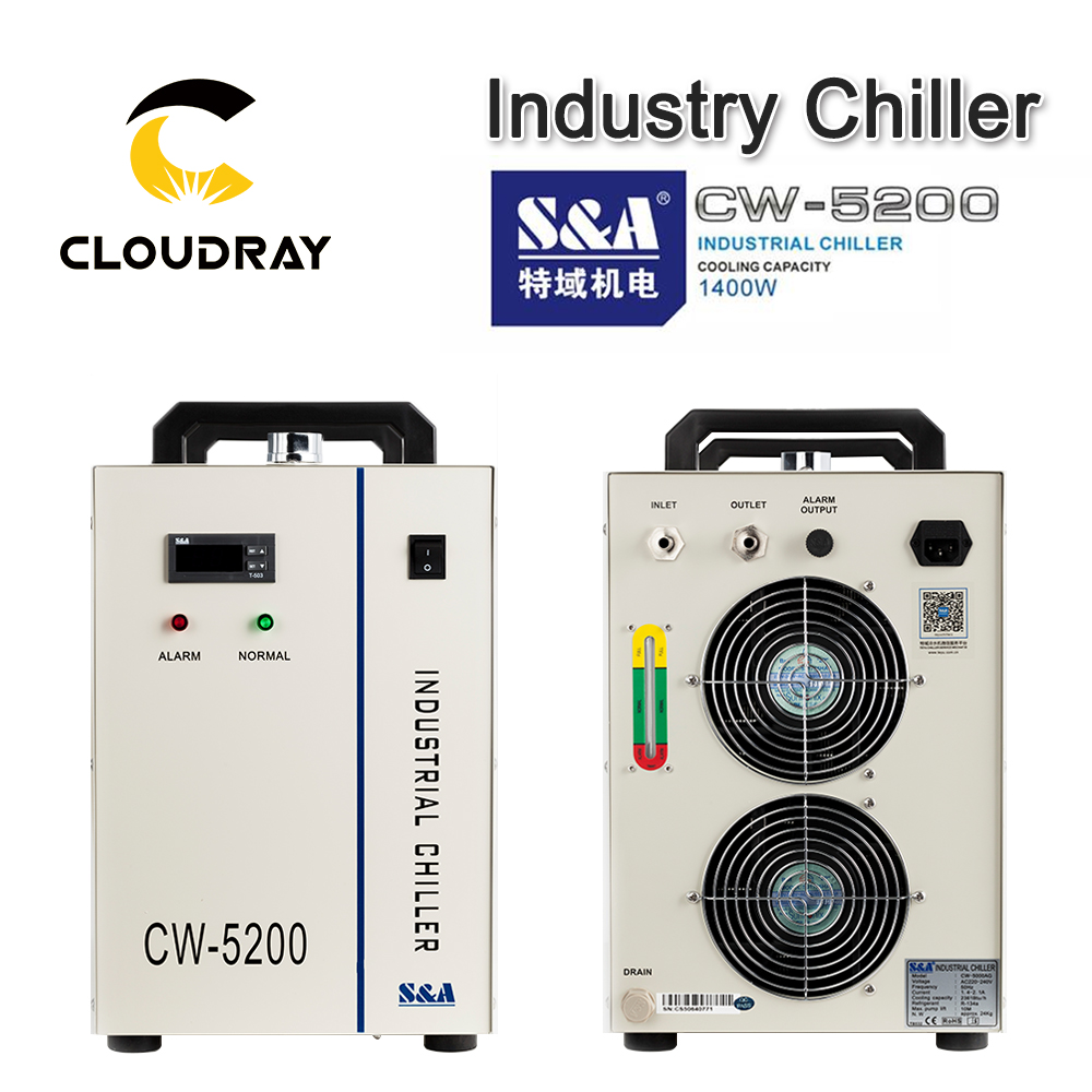 Cloudray 最終割引 Stop118 レーザー彫刻切断機用の水チラー冷却