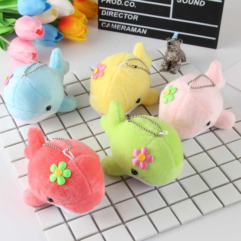 13CM yunus peluş oyuncaklar bebek sevimli peluş anahtarlık şirket faaliyetleri küçük ödül hediyeler çocuk çocuk cep telefonu çantası kolye Q09