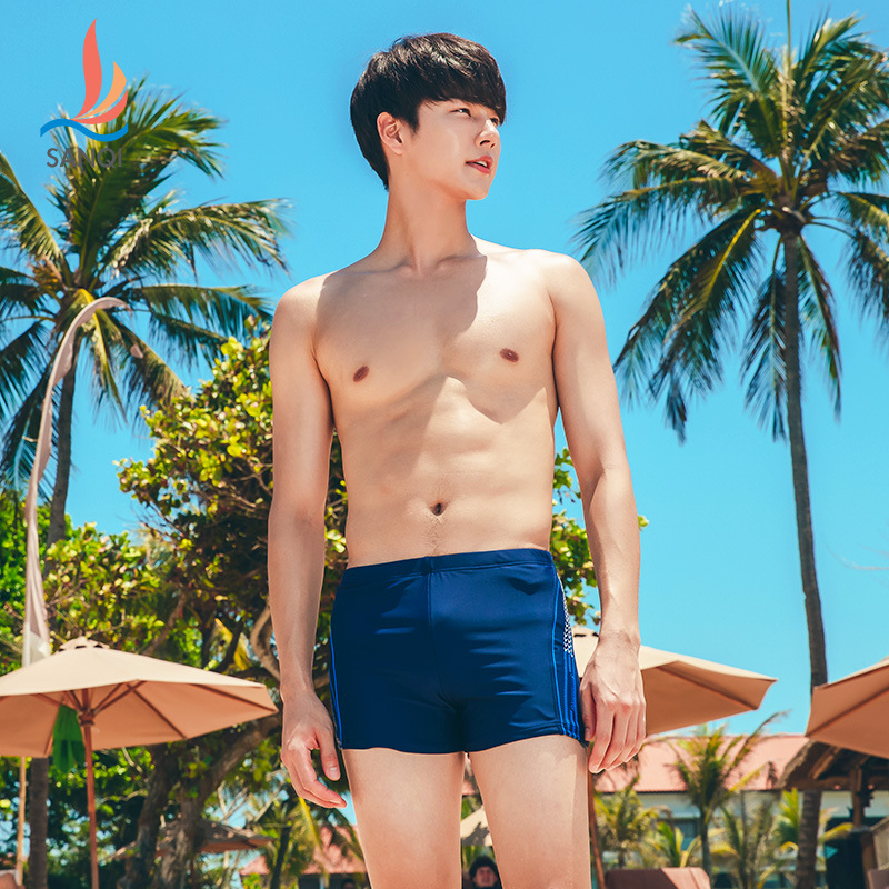 Manufacturers Direct Selling Sanqi Swimming Trunks Boxer Bubble Hot Spring Loose-Fit Fashion Models Low-Rise Racing Swimming Sho