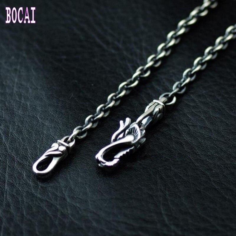 Nouveau collier en argent thaïlandais style vintage 925 bijoux en argent sterling robinet boucle collier en argent de mode pour hommes