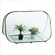 90x47x67cm PE cieplarnianych pokrywa domu roślin cieplarnianych wodoodporny namiot ogród pokrywa (z żelaznym stojakiem) tanie tanio CN (pochodzenie)