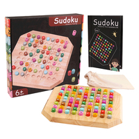 Wooden Sudoku Puzzle Game Brain Teaser Board Game For Children Adult