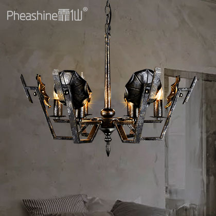 Loft Industrial Wind Decoration Iron Chandelier American Retro Living Room Dining Room Creative Lamps