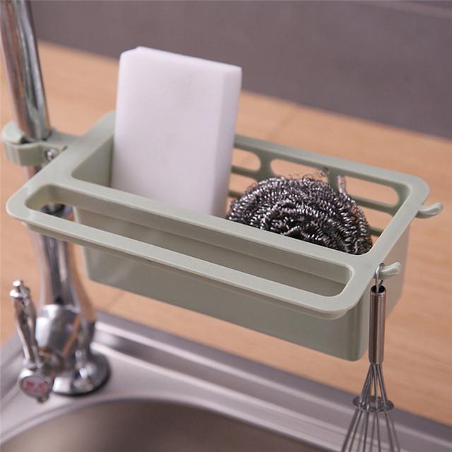 1PC Kitchen Sink Sponge Storage Rack Dish Drainer Rack Towel Rack Holder Faucet Rack Organizer Kitchen Accessories Organizer