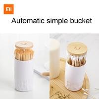 Оригинальная коробка для зубочистки xiaomi, автоматический простой хлопковый тампон для домашней гостиной, коробка для хранения в наличии