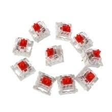 10 шт. 3 контакт механический клавиатура переключатель красный замена для Gateron Cherry MX