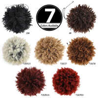 Synthetic Chignon Short Hair Bun Drawstring Puff Afro Kinky Curly Hairpiece Ponytail Bresilien Natural Extension By Fashion Icon