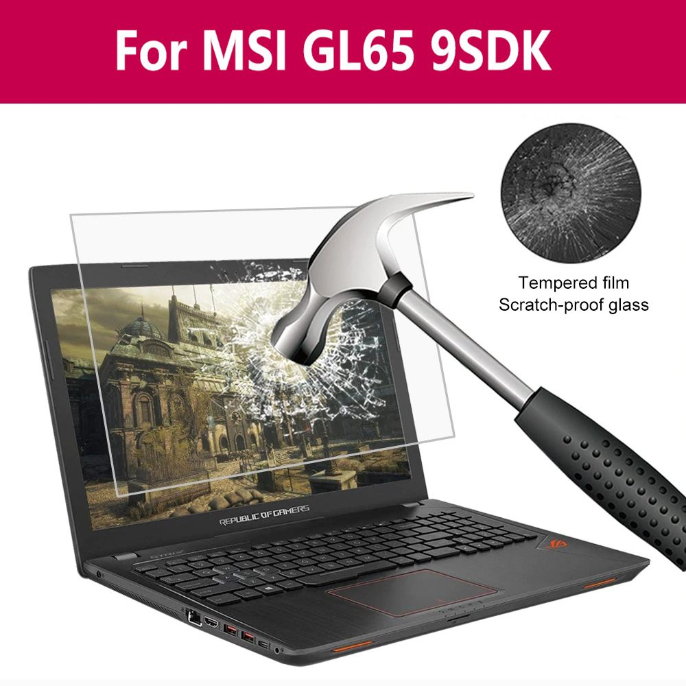 For Msi Gl65 9sdk Anti-Bluelight Tempered Glass Screen Protector Glass Flims