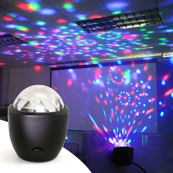 GO FOLLOW Stage Light Disco Ball Magic Effect Lamp Mini Led Voice Activated Ball USB Crystal Flash DJ Lights LW004 1