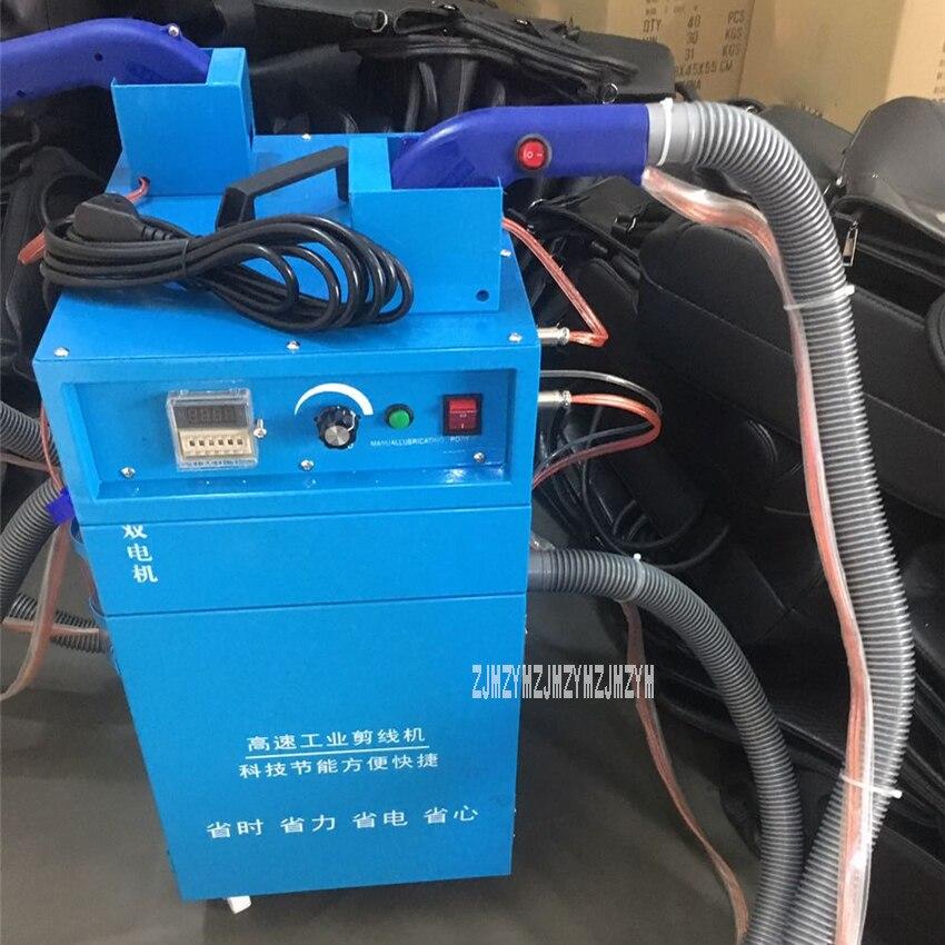 Aletler'ten Elektrikli Alet Setleri'de 808 Çift Kafa Çift Motorlu Otomatik Yakıt Besleme Emme diş açma makinesi Tel Uçları Kesme Makinası Elektrikli Iplik Kesici title=