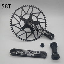 Crankset Litepro-Edge Speed-Road BCD Hollow-Tech Single-Chainring 170mm Bike Bicycle