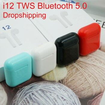 Nouveau i12 tws original pop-up Bluetooth casque sans fil tactile mini casque mini casque de jeu pour téléphones Android i100