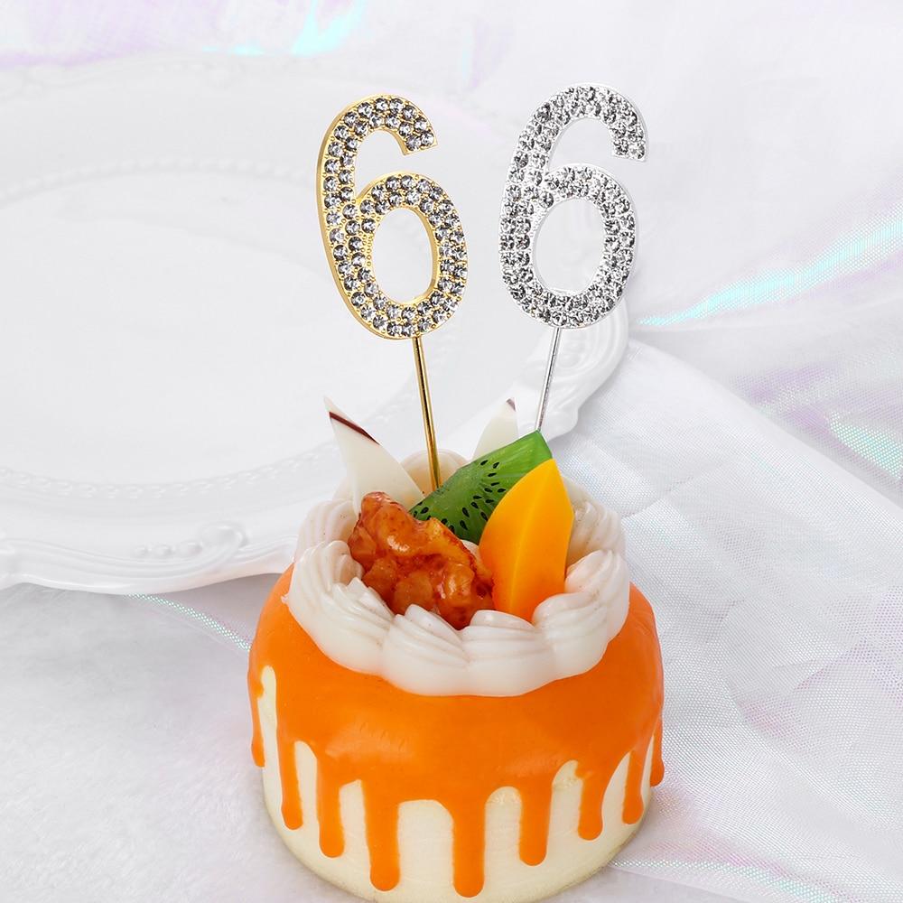 Dessert Diamond-studded Cake Topper Wedding Supplies Party Decoration Cupcake