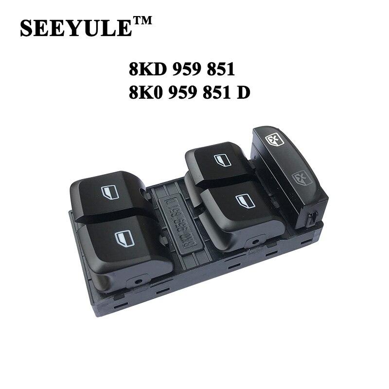 1pc SEEYULE 8K0 959 851D / 8KD 959 851 Audi A4L B8 A5 SPORTBACK Q5 S5 RS5 2007-2012 8K0 959 851 D üçün avtomobil pəncərə qaldırıcısı