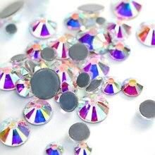 2028 кристалл AB стеклянные узоры HotFix Стразы много размеров Высокое качество DMC Горячая фиксация Стразы SS16 SS20 Железный страз алмаз B3318