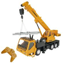 LeadingStar 1 24 10CH Simulation Crane Excavator Wireless RC engineering Lighting Truck Chargeable RC Vehicles Cars Toys cheap Metal CN(Origin) 3 6V 700mah Remote control MODE2 Brush Motor RC Crane Truck 4 Channels Type Grownups electric Ready-to-Go