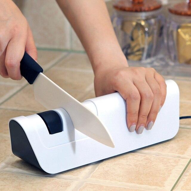RISAMSHA חשמלי סכין מחדד מקצועי יהלומי סכין מחדד להב חידוד מטבח כלים חידוד מערכת