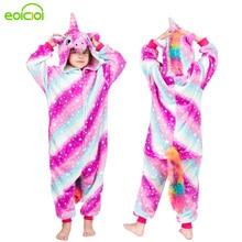 kids pyjamas for boys girls onesies flannel children animal unicorn pikachu stitch pajamas Set winter hooded sleepwear Christmas цена в Москве и Питере