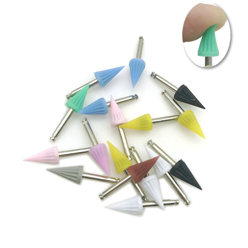 10pcs Dental Polishing Cup Dental Bending Machine Polishing Brush Polisher Prophy Cup Oral Hygiene Dental Lab Tools