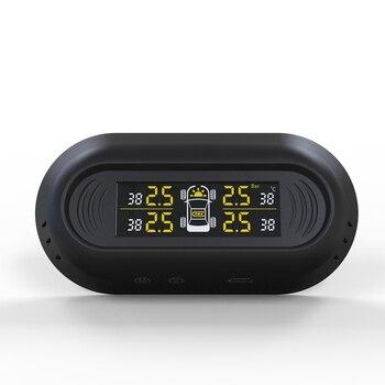 Дропшиппинг солнечной энергии система контроля давления в шинах автомобильная шина Futurepast датчик ЖК-дисплея яркость регулируемая OE