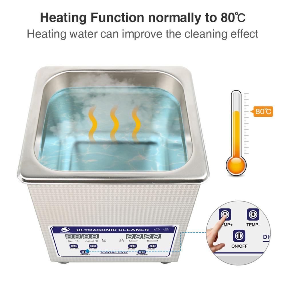SKYMEN numérique Mini nettoyeur à ultrasons panier en métal lavage bijoux montres dentaire PCB CD 800ml 35W 40kHz nettoyant bain colliers