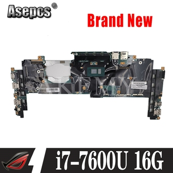 for Lenovo Yoga X1 FRU : 01LV173 16822-1 448.0A912.0011 i7-7600U 16GB RAM SL10M82255 Laptop Motherboard Mainboard Tested