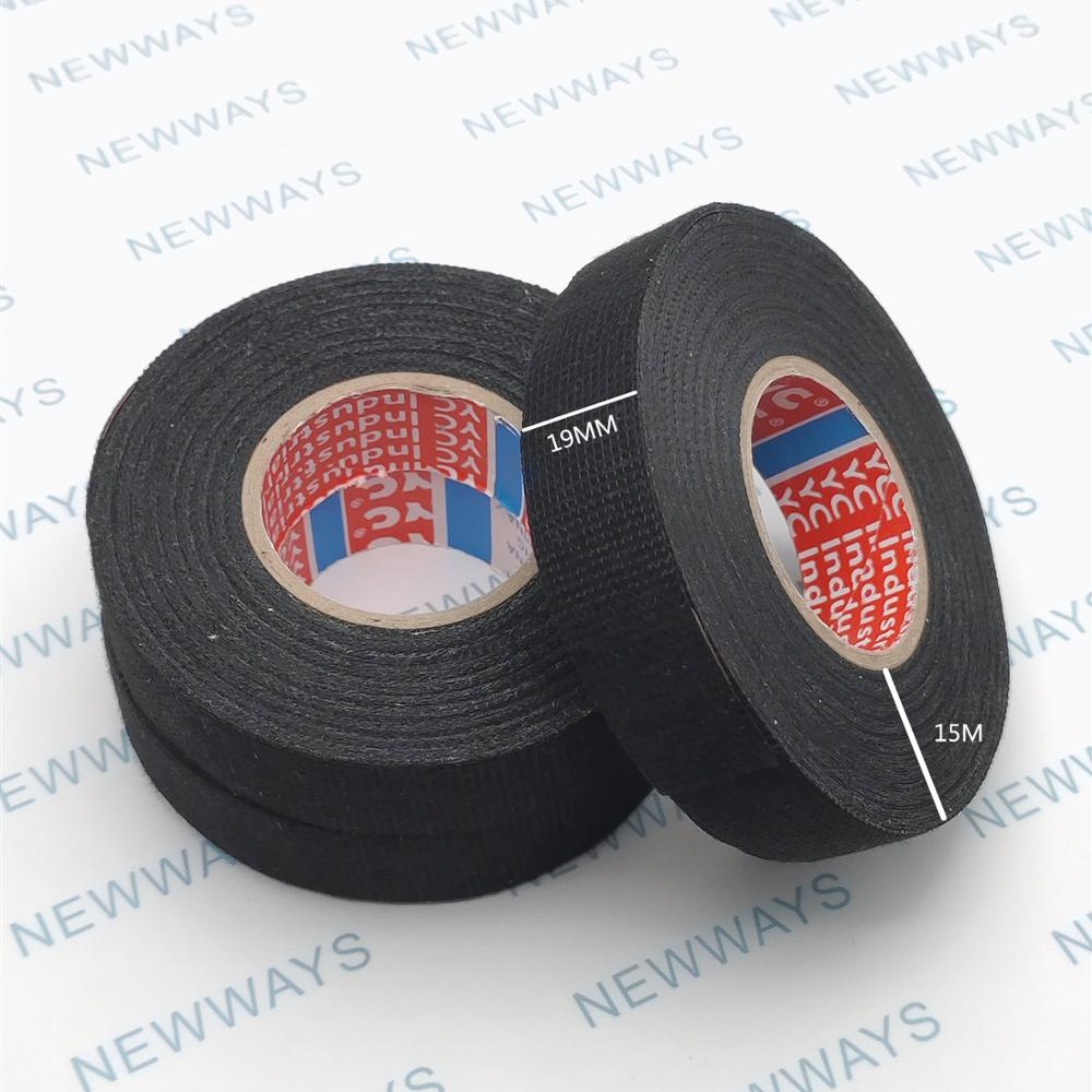 1Set 19mmx15M New Tesa Type Coroplast Adhesive Cloth Tape For Cable Harness Wiring Loom Width 9MM Length15M