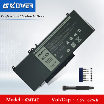 SKOWER 6MT4T Laptop Battery For Dell Latitude E5470 E5570 Series Precision 3510, Replacement 7V69Y 07V69Y TXF9M 79VRK 7.6V/62Wh