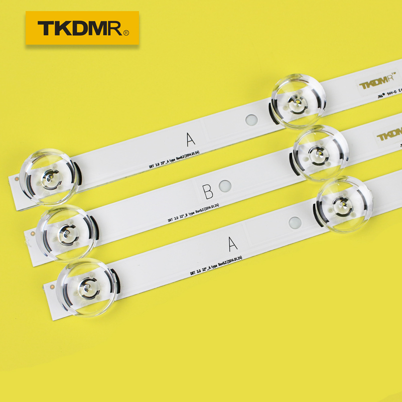 TKDMR 3 PCS*6LED 590mm LED Backlight Strip Bar Compatible For LG 32LB561V UOT A B 32 INCH DRT 3.0 32 A B 6916l-2223A 6916l-2224A