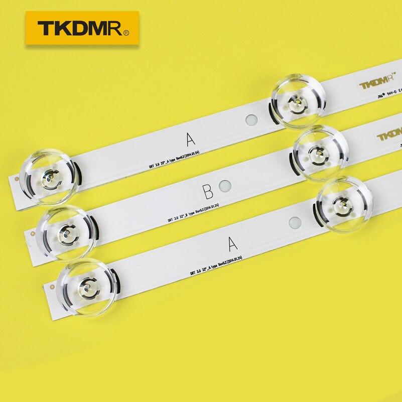 TKDMR 3 PCS*6LED 590mm LED Backlight Strip Bar Compatible For LG 32LB561V UOT A B 32 INCH DRT 3.0 32 A B 6916l-2223A 6916l-2224A