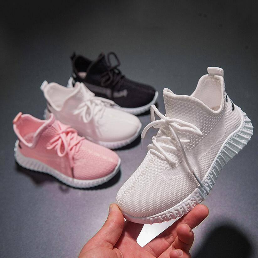 Toddler Infant Kids Baby Girls Boys Soft Sole Mesh Running Sport Shoes Sneakers Solid Hook & Loop Kids Shoes Dropshipping 2020