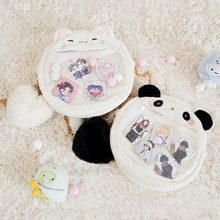 Japanse Kawaii Lolita Cartoon Kat Konijn Panda Pluche Ita Tas Meisjes Transparantie Schoudertas Handtas Leuke Cosplay Messenger Bag(China)