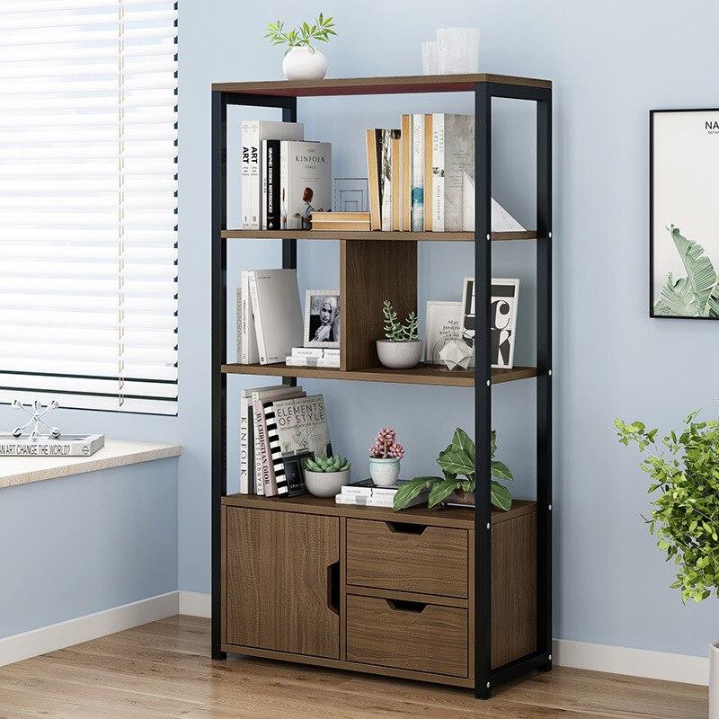 Bookshelf Bookcase Minimalist Modern Wood Storage Shelf Multilayer Living Room Household Shelf Floor Storage Article Storage She