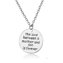 Family Necklace The Love Between A Mother And Son Is Forever Pendant Mom Mommy Kid Mother's Day Gifts Birthday Party Jewelry Hot(China)