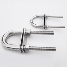 M8/M10 Stainless Steel 304 Marine Boat U Bolt with Nuts and Plates U-screw/U-bolt/with nut washer/fastener/marine hardware m6 m8 m10 din316 butterfly bolt wing bolt set wing nuts claw screw thumbscrew stainless steel