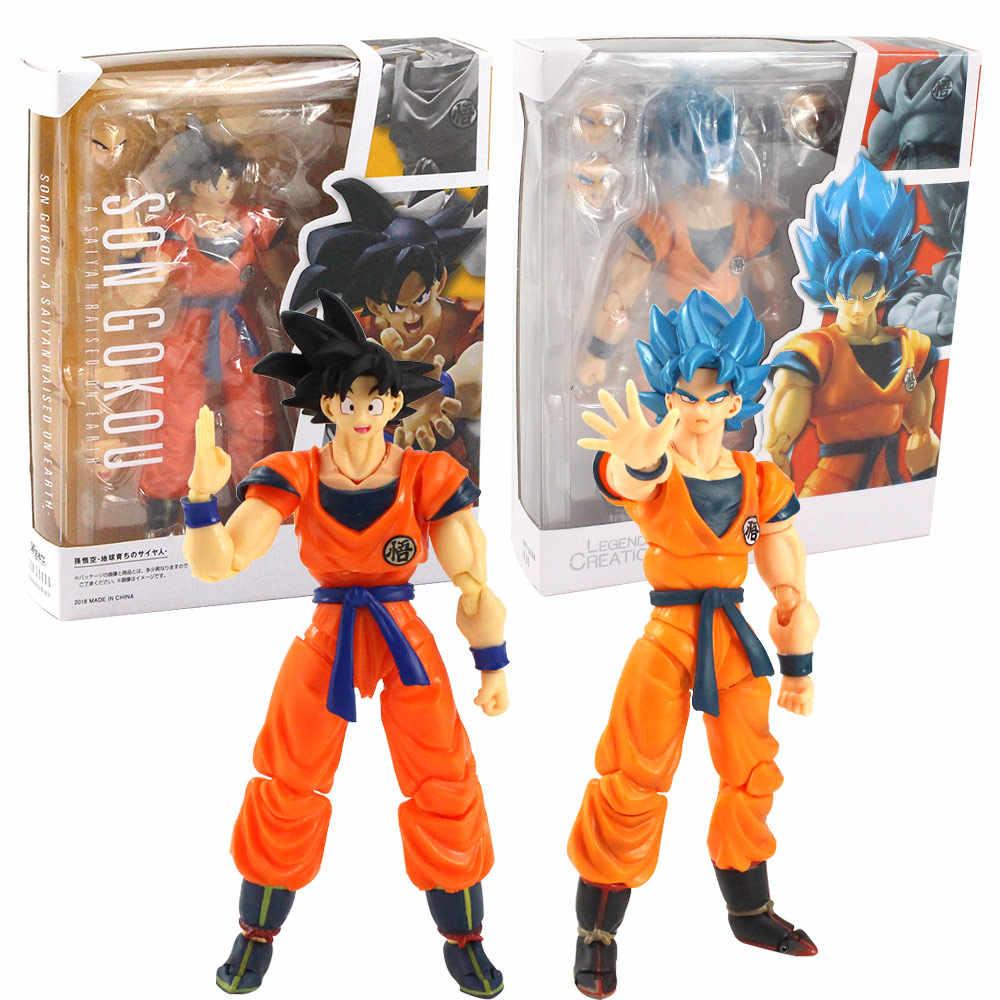 17CM Anime Dragon Ball Z Super Saiyan Goku PVC Action Figure Figurine Toy Gift